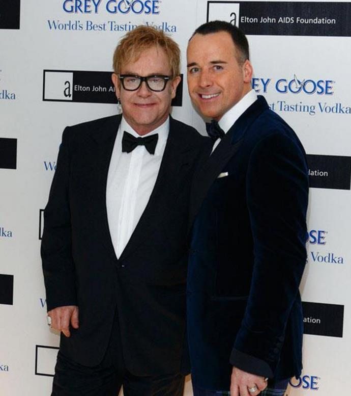 **Elton John & David Furnish (23 years)** Elton and David are one of the most adorable couples in the celeb world, and have lived happily together since 1993. They formed an official Civil Partnership in 2005, and when gay marriage became official in 2014 they finally tied the knot.