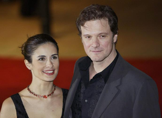 **Colin Firth and Livia Giuggiolo (19 years)** Mr Darcy found his Elizabeth Bennett in Italian film producer Livia Giuggiolo. They have been married almost two decades, have two teenage children, and divide their time between Umbria in Italy, and Chiswick, London.
