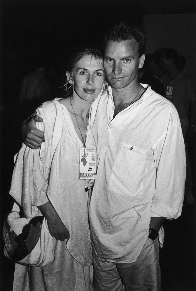 **Sting and Trudie Styler (34 years)** Sting began seeing actress and musician Trudie in 1982, after the breakdown of his marriage to Frances Tomelty. He famously said he fell in love with Styler at first sight, which was awkward because he was married to her mate and next door neighbour, Frances. 34 years on, the couple are still happily married.