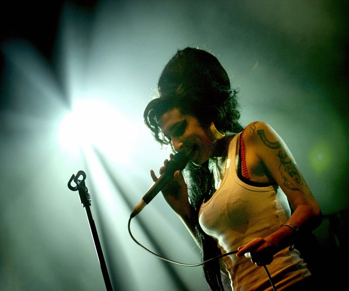 Amy performs on stage on June 29, 2007 during the Eurockéennes Music Festival in Belfort, Eastern France.