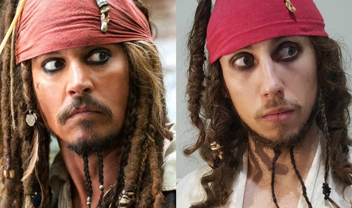 Mark's take on Johnny Depp is uncanny. Photo via [Facebook](https://www.facebook.com/DryJulyShaveOff/photos/?tab=album&album_id=613015525529549)