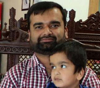 Zeeshan Ahmed and his son, Arsal