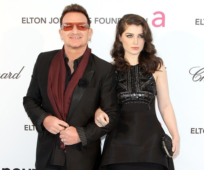 Bono's gorgeous daughter Memphis Eve Sunny Day Hewson goes by 'Eve' Hewson. We can see why.  Bono's band mate The Edge also went out on a limb, naming his daughter Blue Angel...