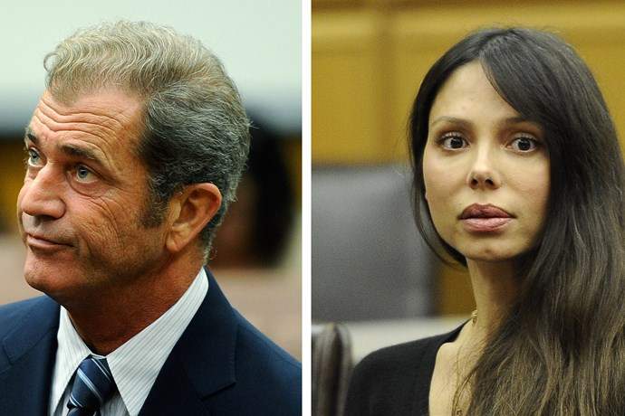 Mel Gibson and ex-partner Oksana Grigorieva