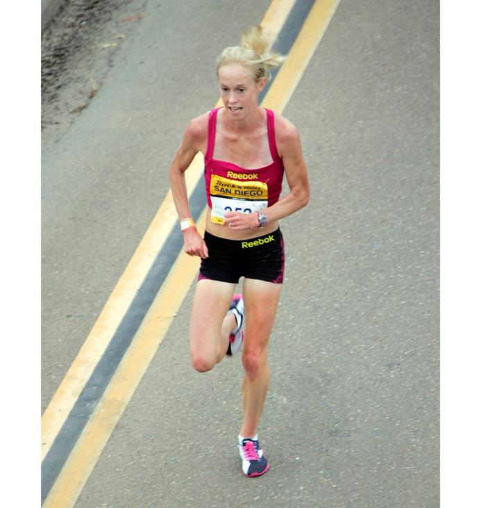 Her problems behind her, the three-time Olympian is thrilled to be training and racing again.