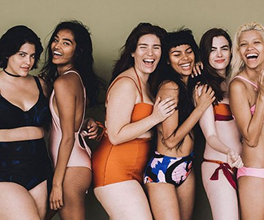 Model squad pose for new body-positive campaign