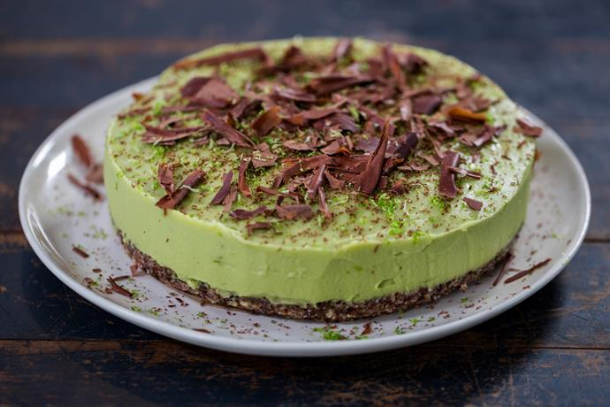 Avocado and lime cheesecake