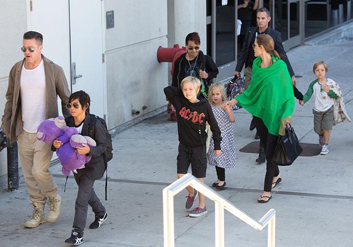 It's understood Jolie will have custody of the couple's six children.