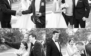 Tom Hanks photobombs couple's wedding photos