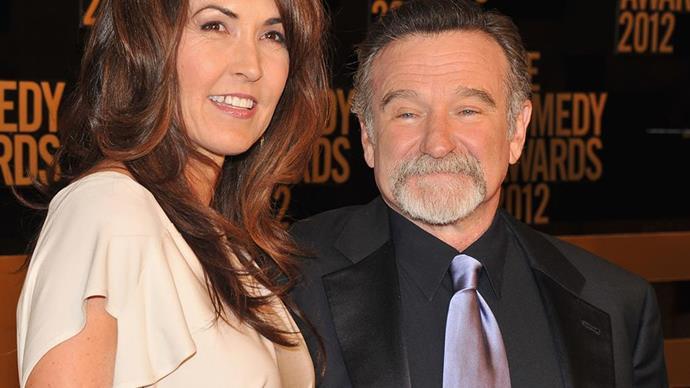 Susan Schneider Williams and Robin Williams