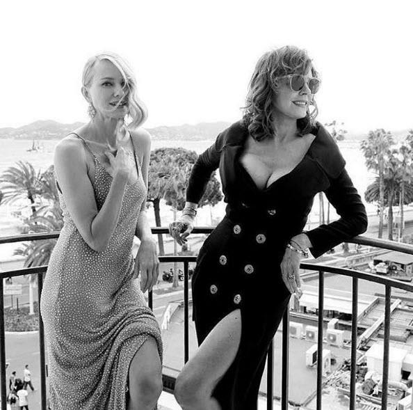 With Naomi Watts at the 2016 Cannes Film Festival.