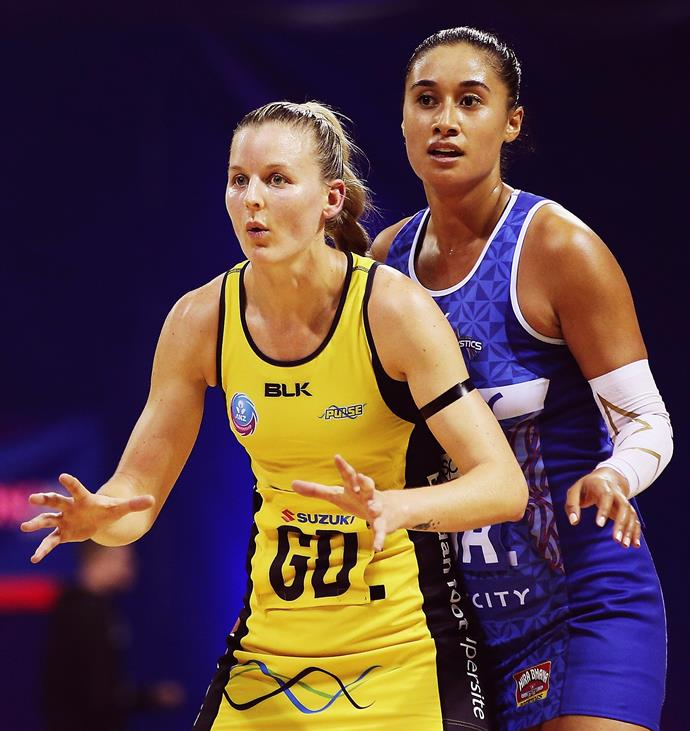The deft defender (pictured with Mystics star Maria Tutaia) has made a name for herself on and off the netball court.