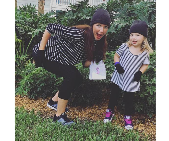 """**Bandit** Using your child's existing wardrobe is a free way to make what can often be cool costumes  [amylockrin](https://www.instagram.com/p/BK9Fs9TDVLl/