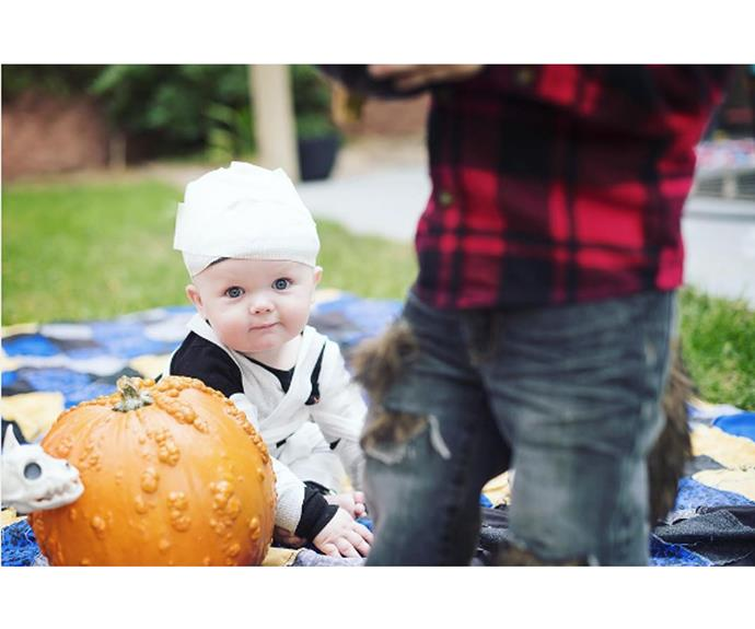 """**Mummy** This baby looks adorable in what is essentially just a well tied bandage.  [laurencastophotography](https://www.instagram.com/laurencastophotography/