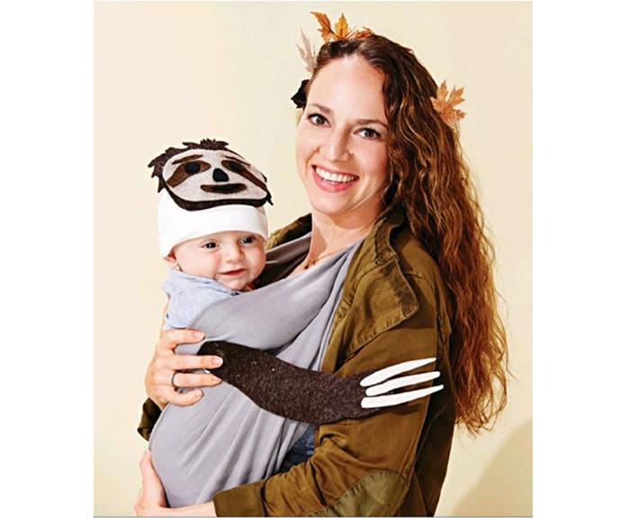 """**Sloth** This one is perfect for very young trick or treaters.   [vidalecheamor](https://www.instagram.com/p/BLEKE7uDvIn/