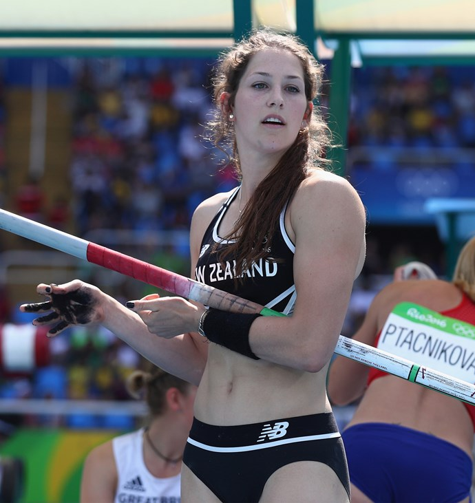 Eliza McCartney performs with determination and focus at this year's Rio Olympics.