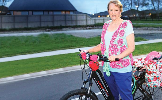 One woman's quirky campaign for bike safety
