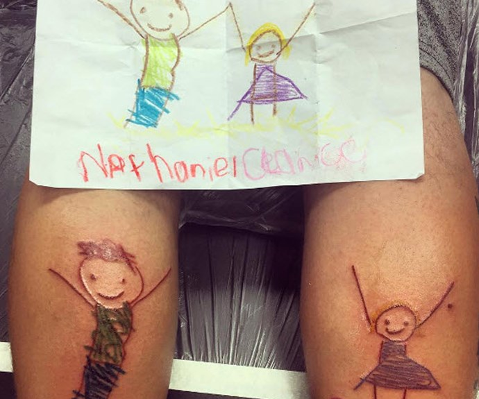 Parents who get their kids' drawings as tattoos
