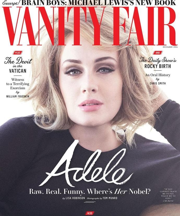 The December issue of Vanity Fair