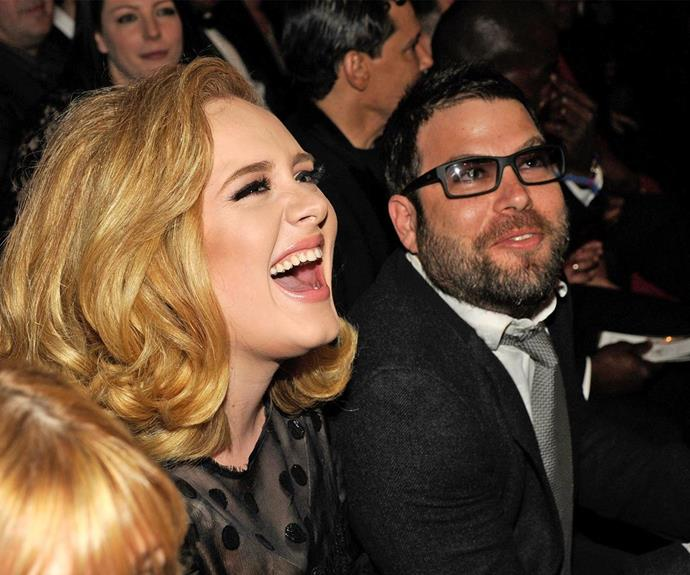 Adele and her partner Simon