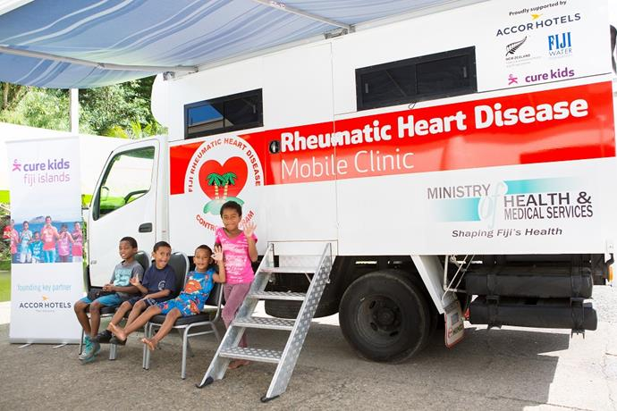 The mobile rheumatic heart disease clinic brings life-saving medical services to children and families in Fiji.