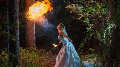 Bride's spectacular hobby captured on wedding day