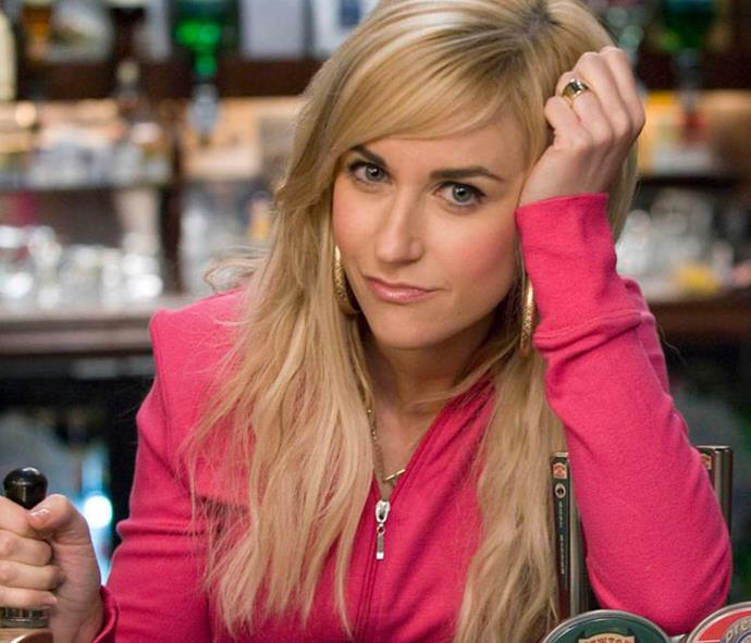 Katherine Kelly as her *Coronation Street* character Becky McDonald
