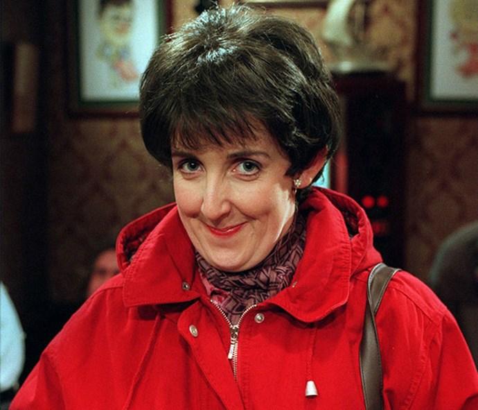 Julie Hesmondhalgh as her *Coronation Street* character Hayley Cropper