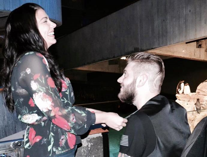 John proposing to Jessica
