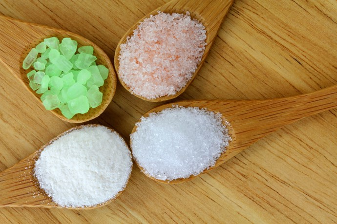 Salts make for an excellent detox bath