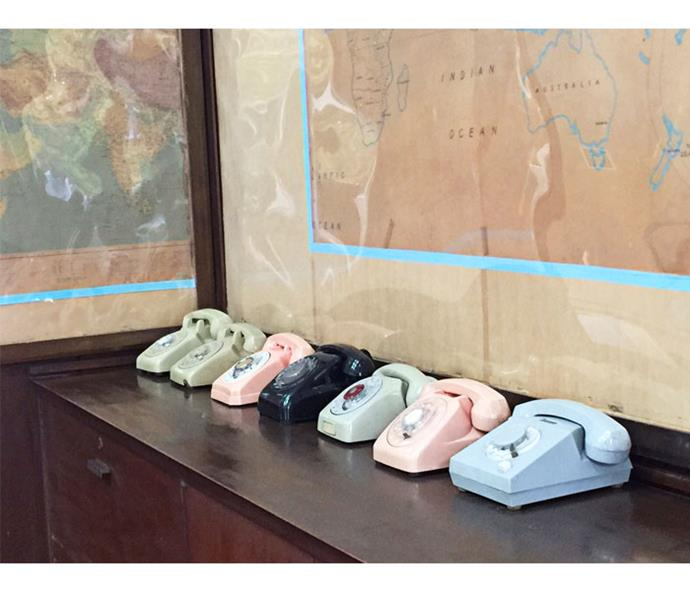 Vintage phones at Reunification Palace.
