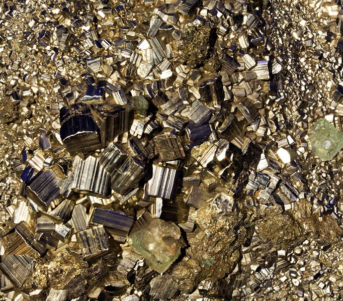**Pyrite** Also known as 'fool's gold,' this stone is used to improve memory. Rather than holding it like other healing crystals, it's suggested that you sit one on your desk while working, or sleep with one.