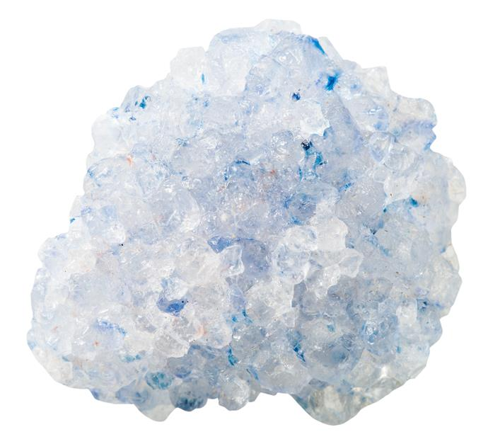 **Celestite** This beautiful sea blue crystal helps bring mental clarity and improve mood.