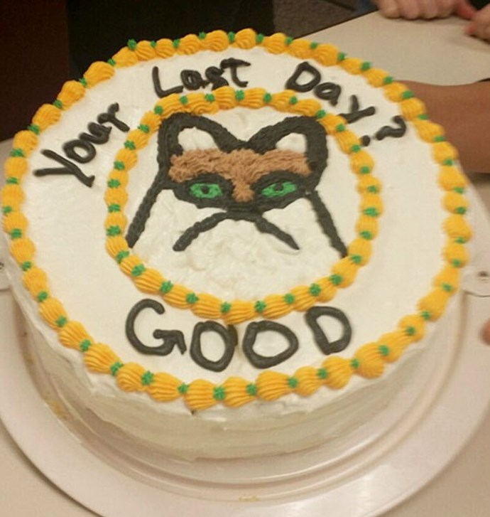 Grumpy cat is glad you're leaving.