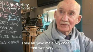 Pensioner given job in bar to stop him 'dying of boredom'