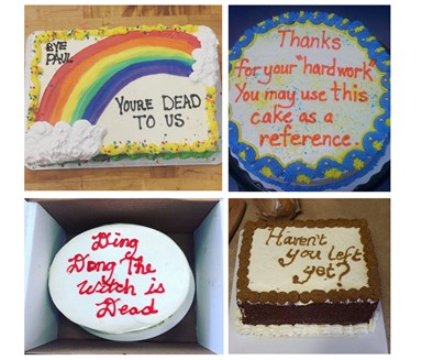 The best passive aggressive leaving cakes ever