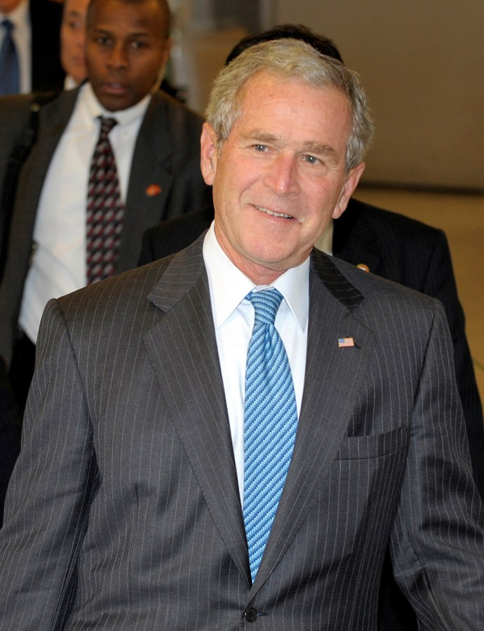 During his 8 year, two term rule, Bush launched the War on Terror, in response to the attacks on The World Trade Centre.