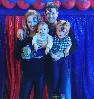 Michael Buble's son home for Christmas after first round of chemo