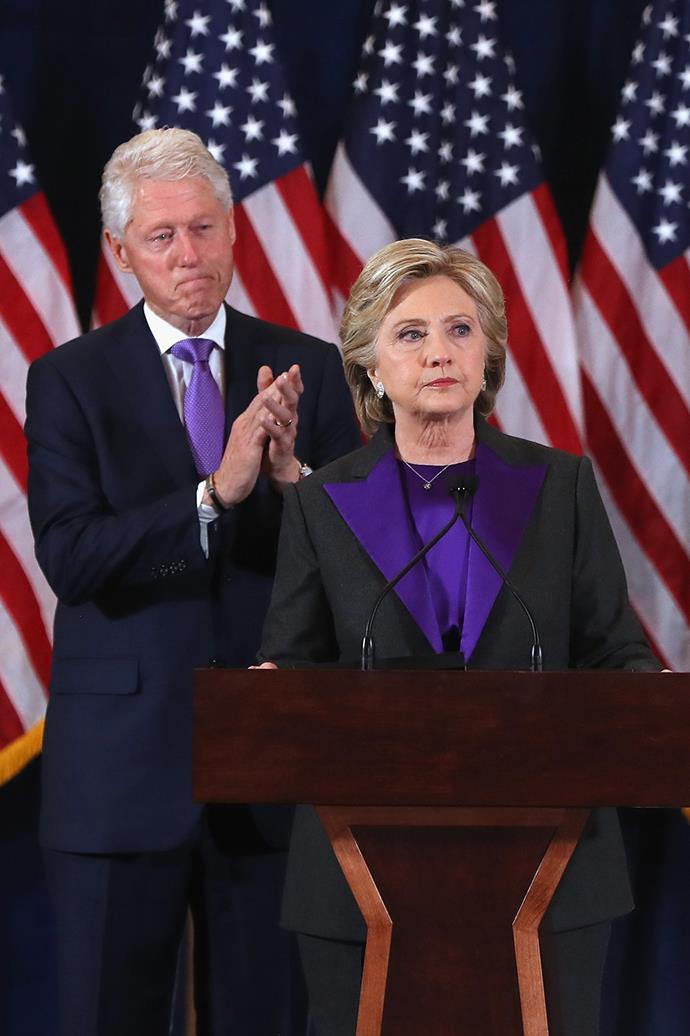 """While Hillary Clinton didn't make it to the White House in 2016, she was still the first female nominee of a major party to run for election. During her concession speech she shared a positive message of hope: """"To all the little girls watching, never doubt that you are valuable and powerful and deserving of every chance and opportunity in the world""""."""