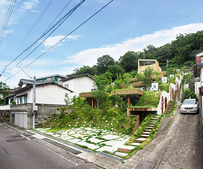 The five-unit complex is covered in lush greenery. Photo: Courtesy of Keita Nagata Architectural Element