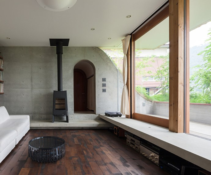 Exposed concrete walls create an interesting minimalist feature. Photo: Courtesy of Keita Nagata Architectural Element