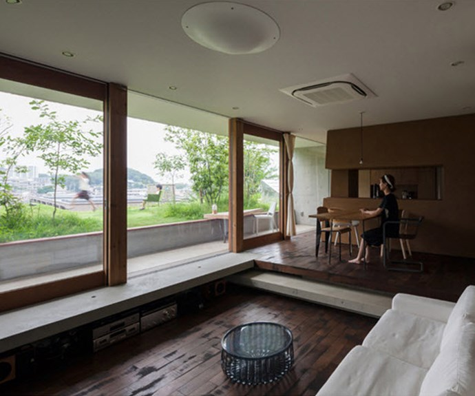 Sliding glass doors open on to roof-top gardens. Photo: Courtesy of Keita Nagata Architectural Element