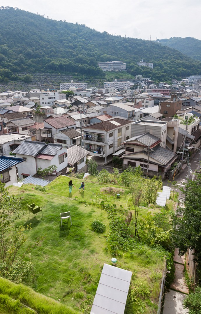 The housing scheme sits nestled into city's hilly landscape. Photo: Courtesy of Keita Nagata Architectural Element