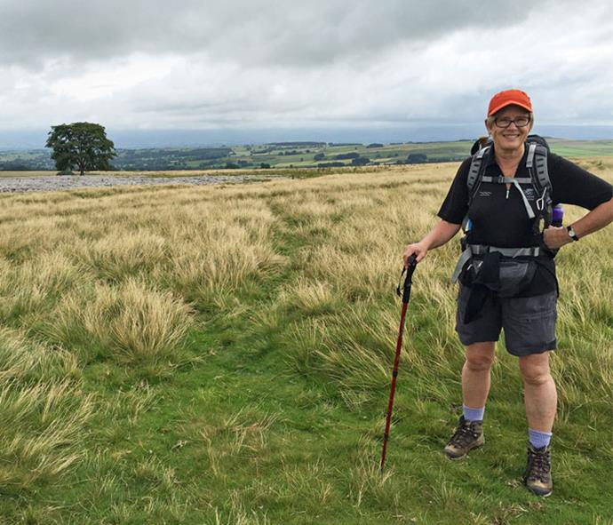 Walking the English Coast to Coast, which took her 13 days.