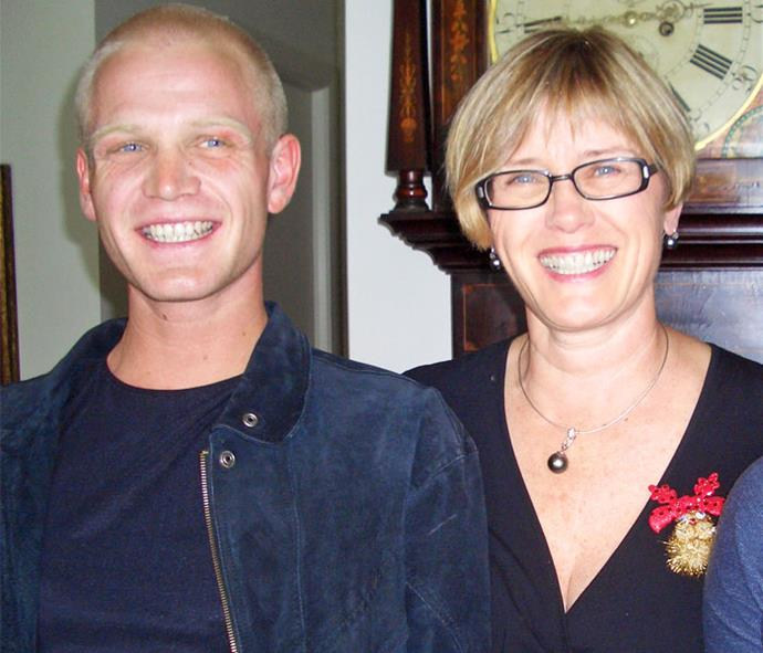 Her beloved son Andrew, who died in 2011.