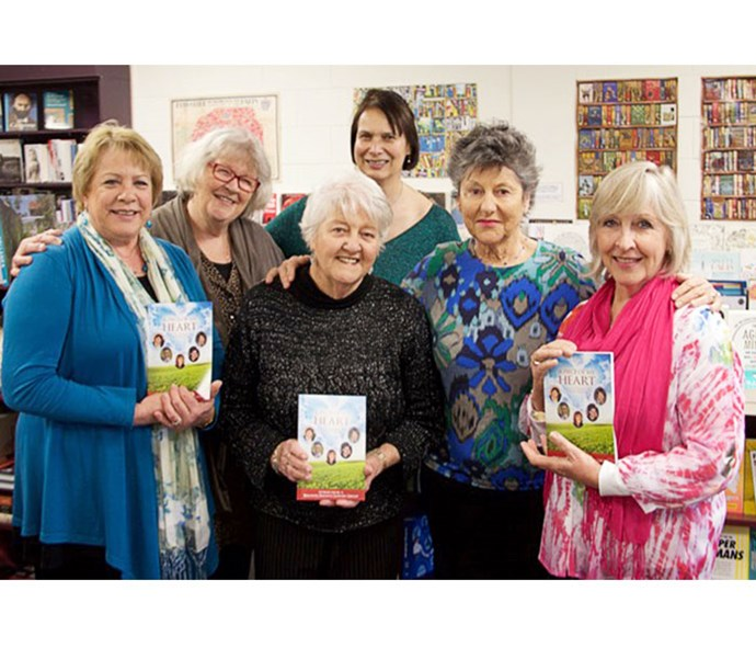 Co-authors (from left) Johneen, Belinda, Anne Green, Donna Porter, Robyn Sievwright and Julie Cameron.
