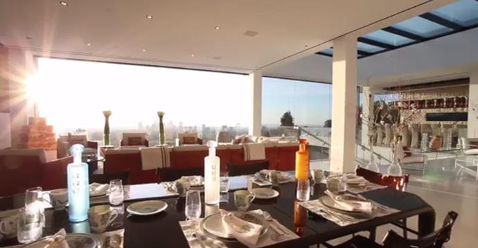 Views from one of the many dining rooms