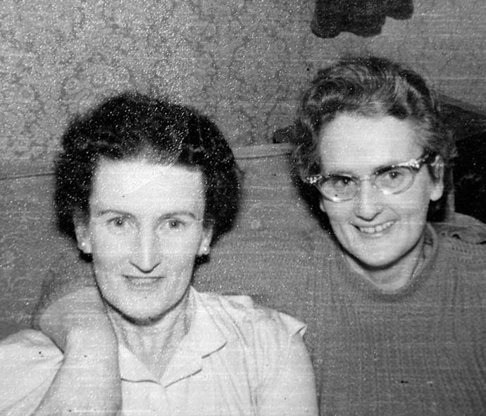 Barbara and her sister Margaret.