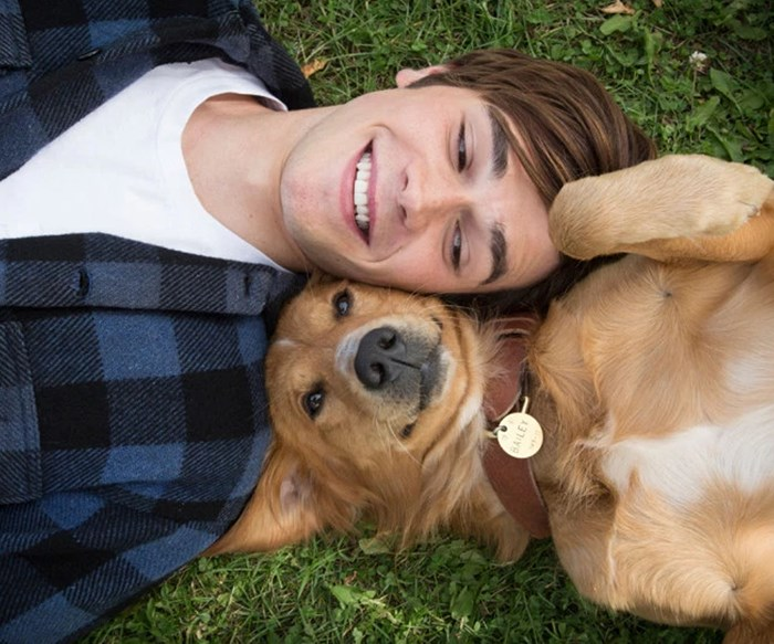 KJ Apa stars in A Dog's Purpose