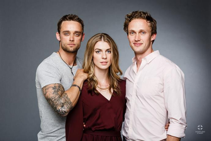 Luke Patrick with leading lady Lucy Lovegrove and Lukas Whiting.
